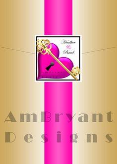 Custom Wedding Invitation Key to My Heart  by AmBryantWeddingDsgns, $4.50