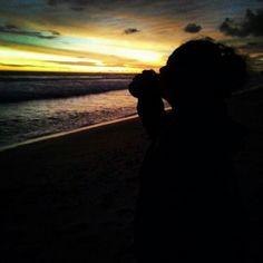 Sunset at Sepanjang Beach, Gunung Kidul, Jogjakarta, Indonesia.
