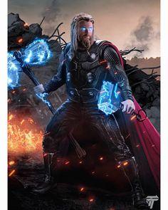 Thor avengers end game Iron Man Avengers, The Avengers, Marvel Fanart, Marvel Dc Comics, Marvel Heroes, Thor Marvel, Mundo Marvel, Die Rächer, Avengers Wallpaper