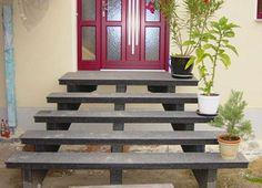 Offene Außentreppe aus Granit
