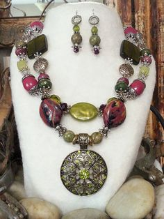 BOLD COWGIRL chic rebel necklace earrings 925 by BoldCowgirl, $66.00