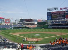 Nationals Park. Check out stub hub for cheap tickets!