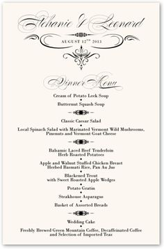 1000 Images About Wedding Dinner Menu Style Ideas On Pinterest Wedding Men