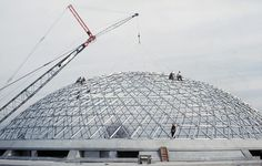 The Bloedel Conservatory opened in 1969 and is seen here under construction. Heritage Foundation, Guest Speakers, Under Construction, Special Guest, Conservatory, Vancouver, Louvre, World, Building