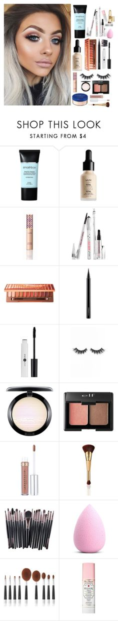 """""""Makeup"""" by laurenatria11 ❤ liked on Polyvore featuring Smashbox, NYX, tarte, Rimmel, Benefit, Urban Decay, MAC Cosmetics, Violet Voss, Charlotte Russe and My Makeup Brush Set"""