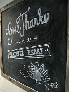 LOve the chalkboard art!