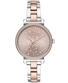 Michael kors women's sofie two-tone stainless steel bracelet watch mm & reviews - watches - jewelry & watches - macy's.