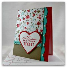 Stamps: Follow My Heart Paper: Real Red Core'dinations, Whisper White, Coastal Cabana, Fresh Prints DSP Pack, Crumb Cake Ink: Real Red Ac...