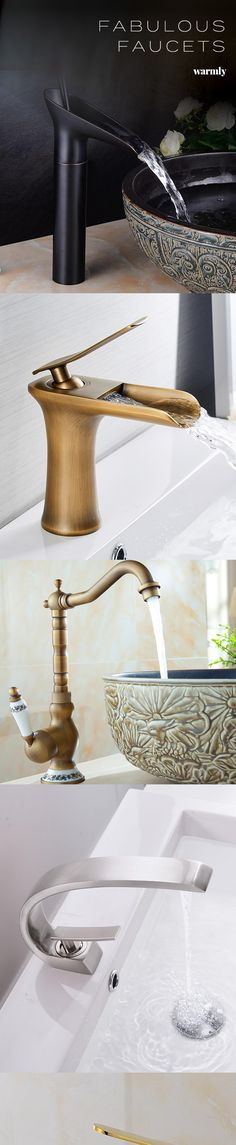 Kitchen faucet - One Hole Oil-rubbed Bronze Pull-out / Pull-down Deck Mounted .Kitchen faucet - One Hole Oil-rubbed Bronze Pull-out / Pull-down Deck Mounted Contemporary Kitchen Taps / Single Handle One HoleBrizo Venetian Bronze Dream Bathrooms, Beautiful Bathrooms, Bathroom Interior Design, Interior Livingroom, Kitchen Interior, Modern Interior, Bathroom Inspiration, Design Inspiration, Design Ideas