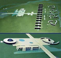 Projeto: Centro Administrativo de Recife / PE / Brasil - Autor: Arquiteto Oscar Niemeyer - Maquetes e fotos: Gilberto Antunes - Escala: 1/500 e 1/200
