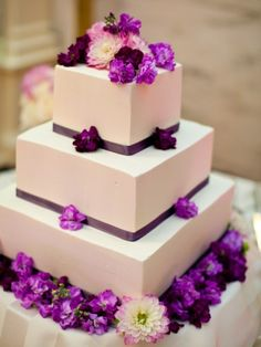 3-tier Purple flowers