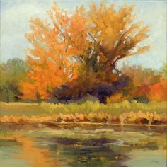 """""""Reflections"""" 12x12 Landscape Painting by Janet Fons at NUMA Gallery"""