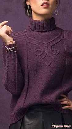 """Sweater """"Hansen"""" by Cassie Castillo. Knitting Online - Knitting Together Online - Country Mom Cable Knitting, Knitting Stitches, Hand Knitting, Knitwear Fashion, Knit Fashion, Knitting Designs, Wool Sweaters, Knitting Patterns, Knit Crochet"""