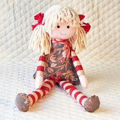 Cloth Doll ecofriendly rag doll she has bamboo by RagDollsRising, $50.00
