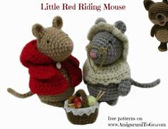 free pattern for little red riding hood mice & clothes