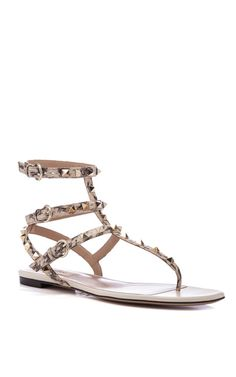 Shop Rockstud Thong by Valentino Now Available on Moda Operandi