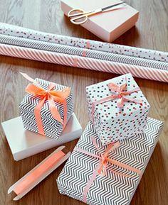 Inspirations : paquets cadeaux et Papiers graphiques, DIY