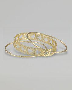 cusp angel wing bangle bracelet set