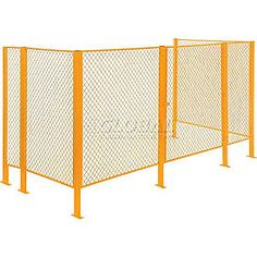 Wire Mesh Partitions & Fencing | Machine Safety Guards | Modular Security Wire Fence Partitions - GlobalIndustrial.com