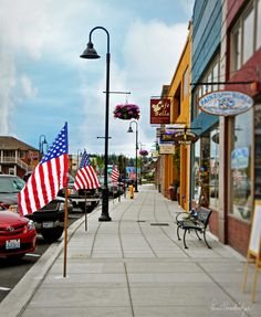 Historic Downtown Oak Harbor has lots of great shops and wide sidewalks for easy strolling.