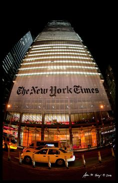 take a picture in front of the new york times with a new york times news paper. New York Times Building by ~amhaley *I used to dream of writing for the NY Times. New York Times, Ny Times, Wyoming, Central Park, Hampshire, Manhattan, Illinois, A New York Minute, Voyage New York