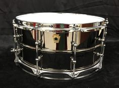 """Ludwig LB417T 6.5""""x14"""" Brass Shell Black Beauty Snare Drum #Ludwig"""