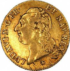 Obverse of Louis XVI Gold Louis D'Or.(antique French gold coin)