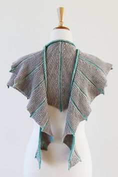 Sea Dragon Shawl pattern by ambah | 19 Game of Thrones themed Knitting Patterns, including free knitting patterns http://intheloopknitting.com/10-game-of-thrones-free-knitting-patterns