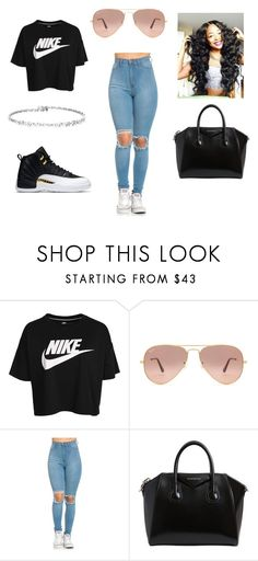 """Untitled #61"" by bvbydest on Polyvore featuring NIKE, Ray-Ban and Givenchy"