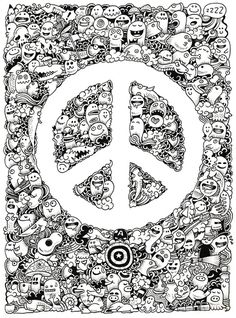 Peace Doodle Art Print by Kerby Rosanes | Society6