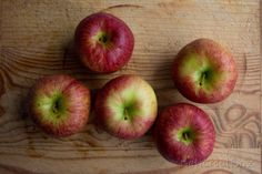 Rustic apples print red and green fruit still life by NewCreatioNZ