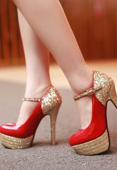 shopbazar shopping mall — [grzxy61900047]Elegant Sexy Paillette High-heeled Shoes