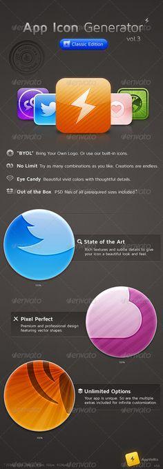 App Icon Generator Vol.3 - GraphicRiver Item for Sale