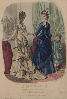 9bb67faa5c La Mode Illustrée 1876 1870s Fashion