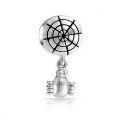 awesome European Charm Bead Cobweb and Spider Halloween Dangle Pugster Charms Fits Pandora