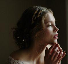 Grecian oak leaf double wedding headband - Marigold no.2094 by EricaElizabethDesign on Etsy https://www.etsy.com/listing/238786621/grecian-oak-leaf-double-wedding-headband
