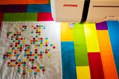 """An eye for an eye will only make the whole world blind.""   Quilt from Janome."