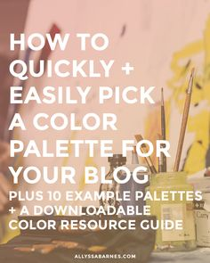 Learn how to quickly and easily create a cohesive color palette for your blog. Plus, check out the 10 example palettes provided and download a color resource guide, filled with resources to help you choose the perfect palette for your site.