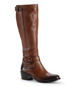 Take a look at this Vintage Cognac Belina Riding Boot on zulily today!