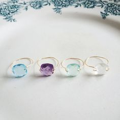 DIY jewelry: rings in less than 5 minutes - DIY ring Source by Sea Glass Jewelry, Wire Jewelry, Bridal Jewelry, Jewelry Rings, Jewelry Accessories, Jewelry Design, Diy Jewellery, Fashion Jewelry, Diy Schmuck