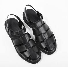 013034f225041 CHARLES   KEITH. Black Flats ShoesBlack SandalsCasual ...