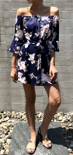 $26.99 Chicnico Boho Off The Shoulder Floral Print Dress Luau Outfits, Summer Outfits, Summer Dresses, Holiday Outfits, Ethnic Fashion, Cute Fashion, Fashion Outfits, Fashion Ideas, Luau Dress