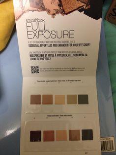 Smashbox Full Exposure Eye Shadow Palette sample card $5 shipped