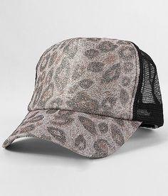 """""""Leopard Print Trucker Hat"""" www.buckle.com"""