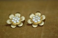 Vintage Trifari Clip On Earrings  Gold by LittleGhostVintage, $14.00