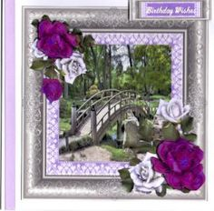 Japanese Bridge and Roses on Craftsuprint - View Now!