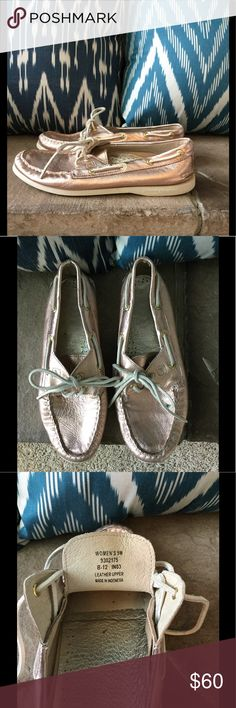 Rose gold metallic Sperry Top-Sider size 9 EUC Rose gold metallic Sperry Top-Sider - this color is absolutely stunning! Worn twice, size 9, EUC Sperry Top-Sider Shoes