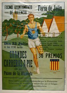"""""""Grandes carreras a pie en el Paseo de la Alameda"""". Fira de Juliol, 1930"""