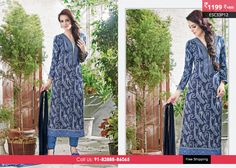 """Blue Pure Cotton Lawn Suit """" at Rs 1199 ONLY!! Shop Now at http://www.enasasta.com/deal/blue-pure-cotton-lawn-suit OR Call/Whats app 08288886065  Product Code:-ESC33P12  Top:Pure Cotton Loan 100*100 Print  Bottom: Cotton Pure  Bottom Cut: 2.50 mtr  Dupatta: Nazmeen Chiffon  Fabric Semi Stitched  Cash On Delivery As Well As Advance Payment Both Are Available.  FREE Shipping All Over India!!  Deal is Valid For Today Only"""
