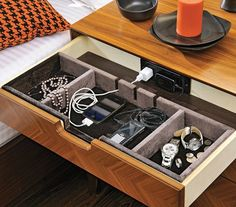 This, I love.  I wonder if there's a home conversion kit or DIY hack I could do to my Ikea nightstand...